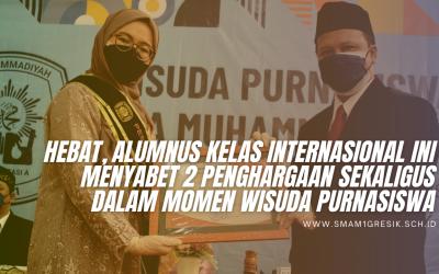 Hebat, Alumnus Kelas Internasional ini Menyabet 2 Penghargaan Sekaligus Dalam Momen Wisuda Purnasiswa